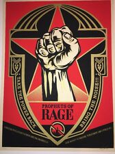 Shepard Fairey Profits Of Rage Signed Numbered OBEY Print Poster Public Enemy.