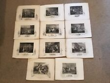 A Collection Of 11 Etchings By JRogers. Publ. J Tallis And Co. C 1853 London