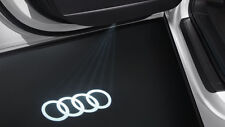 Original Audi LED Einstiegsbeleuchtung Emblem Schriftzug Projektion Audi Ringe