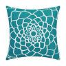 CaliTime Dahlia Floral Outline Cushion Cover for Couch Sofa Home Decor 45 x 45cm