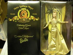 BARBIE GOLDEN HOLLYWOOD CELEBRATION 75 YEARS #22832 1998 MATTEL NRFB MAI GIOCATA
