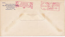 POSTAL HISTORY ADVERTISING METERED COM COVER 1951 BELL TELEPHONE CO PHILADELPHIA