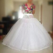 Neu Lager Weiß TÜLLROCK Petticoat 8-lagig ohne Ring Unterrock Reifrock 115 cm