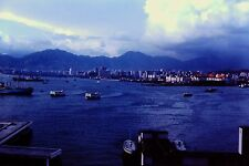 Hong Kong 60's 35mm Ektachrome slide Hong Kong City Car Ferry Victoria Harbor
