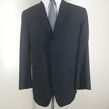 J.PRESS GRAY BLAZER MADE IN THE U.S.A. 3 BTN. CENTER VENT ALL WOOL 44 LONG