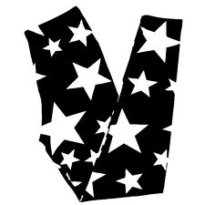 Buttery SOFT Black White Star Leggings One Size S M L Stars Sky Space Galaxy OS
