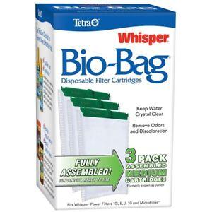 Tetra Whisper Bio-Bag Cartridge Medium 3pk Free Shipping