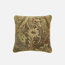 "Croscill ASHTON Throw Pillow 18"" Square Bed Decorative Accent Gold NEW"