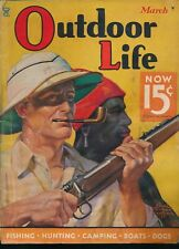 OUTDOOR LIFE March 1935 Magazine EDGAR FRANKLIN WITTMACK Safari Painted Cover