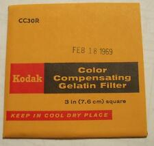 Kodak Color COMPENSADOR GELATINA Filtro N º cc30r 7.6cm OR 7.6cm Cuadrado