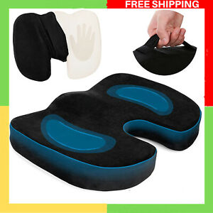 Seat Cushion Memory Foam Cushions for Tailbone Sciatica Pain Relief Ortho Coccyx