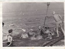 1960s Nude naked men winter swimming hole ice river Soviet Russian photo gay int