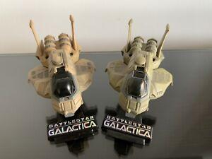 Battlestar Galactica Titanium series Colonial Raptor regular & SDCC ship diecast