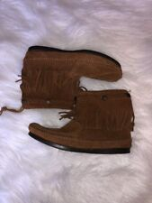 Minnetonka Womens Hi Top Back Zip Moccasin Bootie Boot Brown Size 7