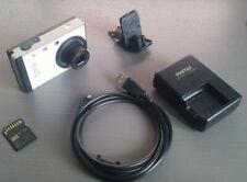 Pentax Optio RS1500 14,1 MP 4X Zoom Digitalkamera - Silber SD 4Gb Gut!