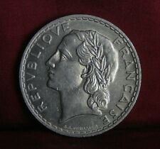 1933 France 5 Francs Nickel World Coin Liberty Head half dollar size