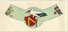 Etiquette de vin d'Alsace Hansi Illustrateur Cigogne Alsace stork cigüeña Stork