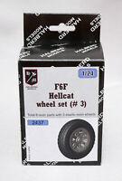 Halberd Models  F6F HELLCAT wheels set #3 for Airfix 1/24 kits