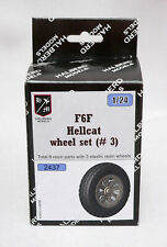 Halberd Models  F6F HELLCAT wheels set #3 for Airfix 1/24 kits