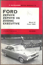 Ford Zephyr, V6, Zodiac & Executive Mk IV from 1966 Olyslager Motor Manual 1974
