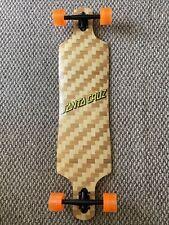 "Bamboo Longboard Drop Through Basket Weave 40""X10"" Nos Santa Cruz Decal"