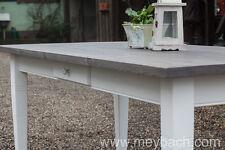 Esstisch Massivholz Landhausstil Esszimmer Küche 180 cm M01 weiß grau Treibholz