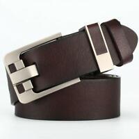 Mens Leather Belt Retro Casual Pin Buckle Waist Belt Waistband Belts Strap Vogue