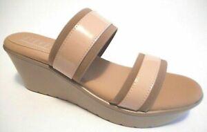 BRAND NEW STEVE MADDEN Size 9 Nude Tan Memory Foam Wedge Slide Sandal Shoes