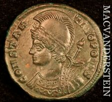 Constantinopolis Commemorative Issue AD330-346 Ag3/4 Rev Victory On Prow #Y2005