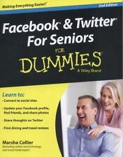 Facebook and Twitter For Seniors For Dummies  Collier, Marsha  Good  Book  0 Pap