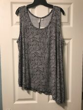 Cato Women's 22/24 Black & White Tank Top/Cami NWT