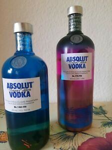 Absolut Vodka 1 & 0,7 Liter UNIQUE LIMITED EDITION Wodkа Neu 40 %Vol