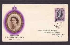Sierra Leone 1953 FDC 1st day cover to the USA QE II Coronation BPA cachet