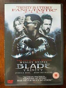 Blade Trinity DVD 3 Marvel Universe Vampiro Slayer Terror Película Con / Wesley