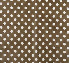 Stoff Wachstuch Punkte beige braun Punktestoff Baumwolle beschichtet 0,25 m