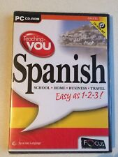 TEACHING YOU SPANISH, 2 CD-ROM SET, NEW AND SEALED.