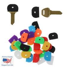 5x Key Caps Rubber Identifer Top Cover Keys Topper Ring Mixed Colors Hat Shape
