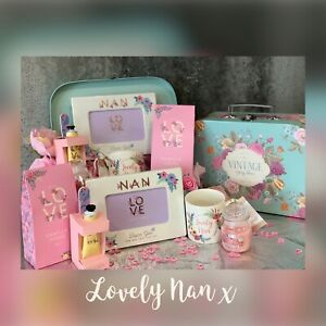 GIFT FOR NAN, NANNY GRANDMA ON MOTHERS DAY, LUXURY GIFT VINTAGE HAMPER SUITCASE