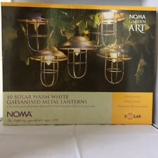Noma 10 Solar Warm White Galvanised Metal Lanterns