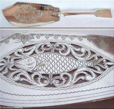 Victorian Fish Slice  Server Sterling Silver openwork London 1847 Antique (4309)