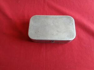 Vintage R. Wheatley 32 Compartment Trout Fly Box & Contents. Old Trout Flies.