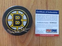 HOFer Defenseman BOBBY ORR #4 LAST HURRAH signed BOSTON BRUINS Puck PSA AE98322