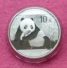 2015 China Panda 10 Yuan 1 OZ (approx. 28.35 g) plata moneda encapsulado