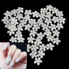 50Pcs Flower Design Nail Art Tips Shiny Rhinestone Decor Manicure for Girls zsf