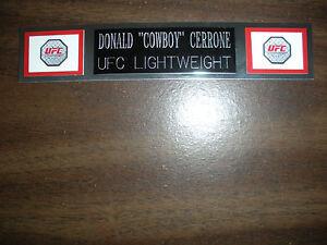 "DONALD ""COWBOY"" CERRONE (UFC) NAMEPLATE FOR SIGNED TRUNKS DISPLAY/PHOTO/PLAQUE"