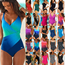 Women Ladies One-piece Tummy Control Monokini Swimsuit Swimwear Swimming Costume