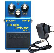 Boss bd-2 blues Driver efecto dispositivo + fuente alimentación