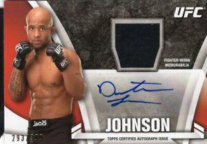 Demetrious Johnson 2013 Topps UFC Knockout Autograph Relic Card #293/399
