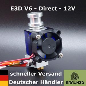 E3D V6 Hotend Kit mit Lüfter 1,75mm 12V - All Metal - Direct-Extruder