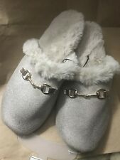 Rest Your Soles Collection Eighteen Shimmery Beige Scuffs Slippers Sz 11-12 NWT